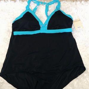 NWT Black One Piece Swimsuit Plus 22W